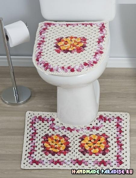Коврики крючком для ванной комнаты (5)