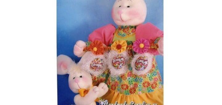 Крольчиха в сарафане. Выкройка игрушки