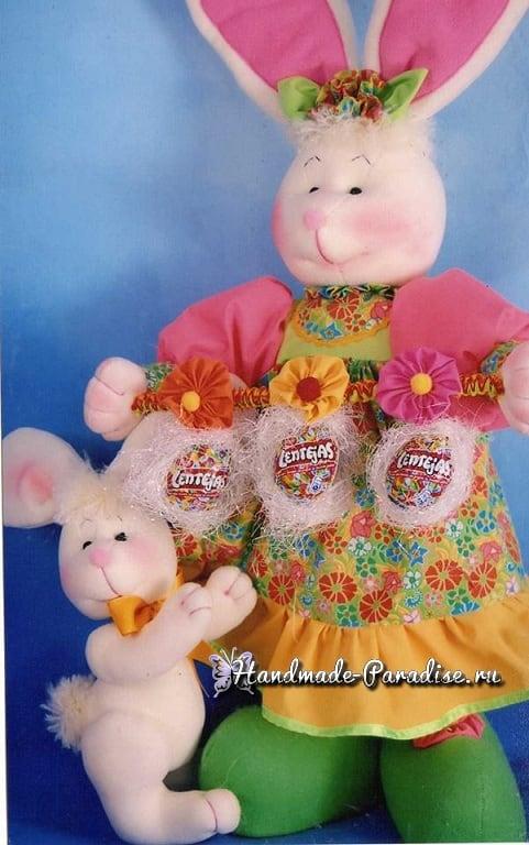 Крольчиха в сарафане. Выкройка игрушки (6)
