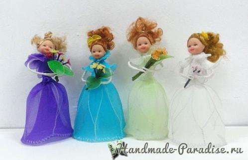 Куклы из капрона на проволочном каркасе