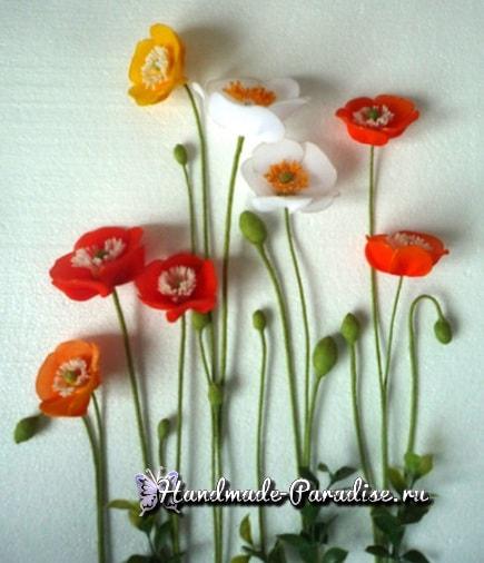Тюльпаны из капрона мастер класс