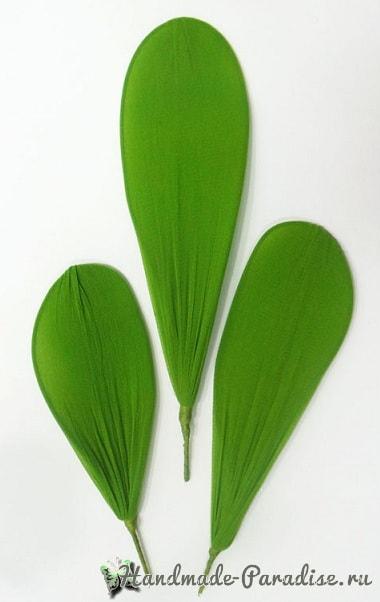 Орхидея Фаленопсис из капрона. Мастер-класс (10)