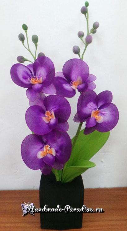 Орхидея Фаленопсис из капрона. Мастер-класс (13)