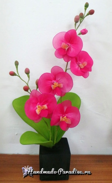 Орхидея Фаленопсис из капрона. Мастер-класс (16)
