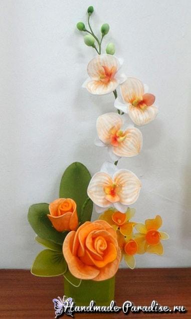 Орхидея Фаленопсис из капрона. Мастер-класс (17)