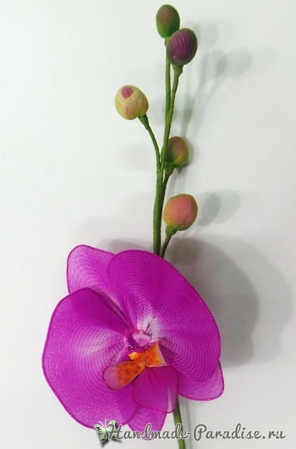 Орхидея Фаленопсис из капрона. Мастер-класс (9)