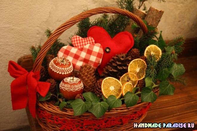 Рождественские яблоки с росписью глазурью (6)