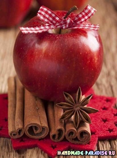 Рождественские запеченные и карамелизированные яблоки (10)