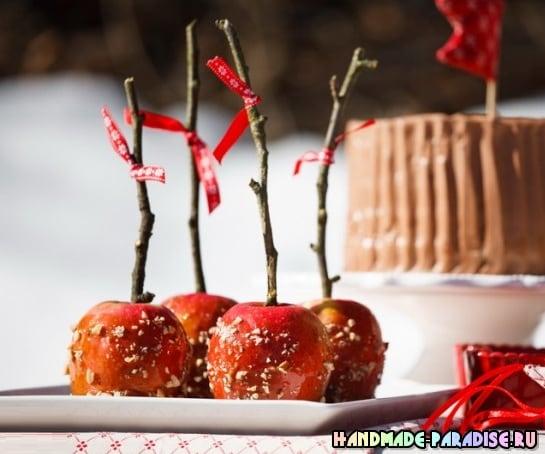 Рождественские запеченные и карамелизированные яблоки (9)