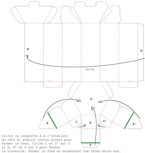 Шаблоны коробочек из бумаги (8)