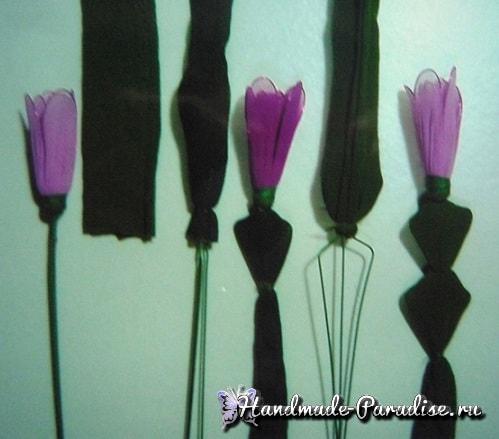 Цветок декабрист из капрона (3)