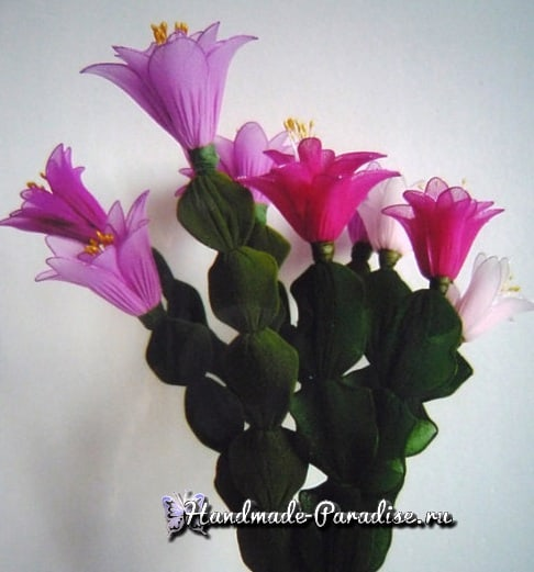 Цветок декабрист из капрона (4)