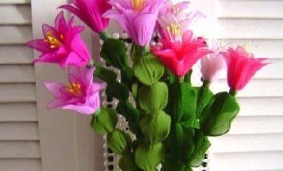 Цветок декабрист из капрона