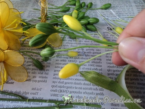 Цветущий абрикос из капрона. Мастер-класс (11)