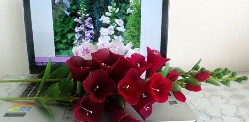 Цветы handmade. Наперстянка из капрона