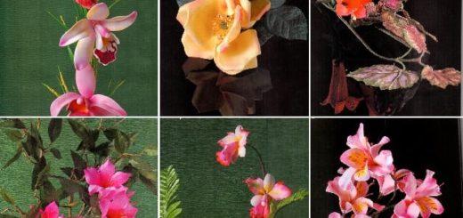 Цветы из фоамирана. Инструкции и шаблоны