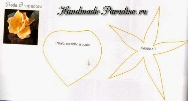 Цветы из фоамирана. Инструкции и шаблоны (6)