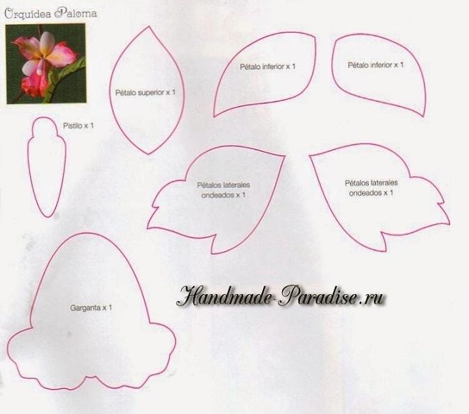 Цветы из фоамирана. Инструкции и шаблоны (7)
