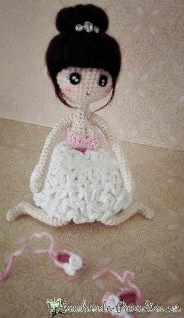 Туфельки крючком для куколки амигуруми (7)