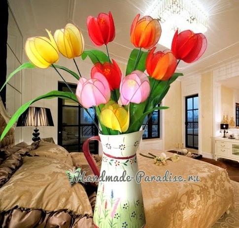 Тюльпаны из капрона. Видео мастер-классы