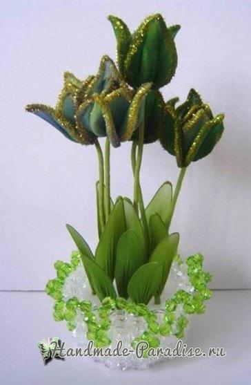 Тюльпаны из капрона. Видео мастер-классы (2)
