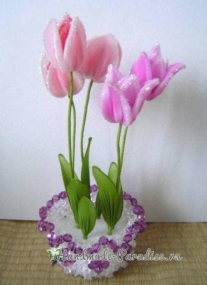 Тюльпаны из капрона. Видео мастер-классы (3)