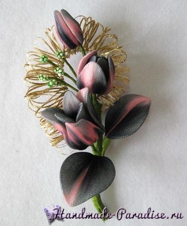 Тюльпаны из капрона. Видео мастер-классы (7)