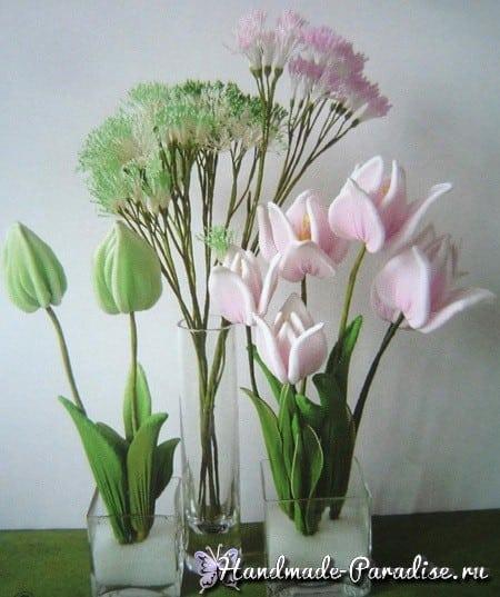 Тюльпаны и физалис из капрона (8)