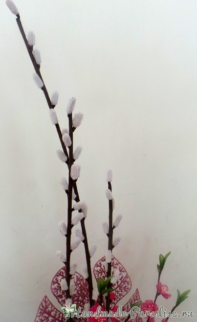 Верба для цветочных композиций из капрона (4)