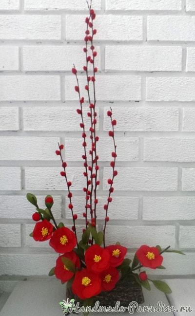 Верба для цветочных композиций из капрона (7)