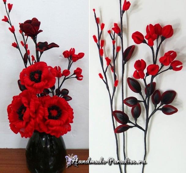 Верба для цветочных композиций из капрона