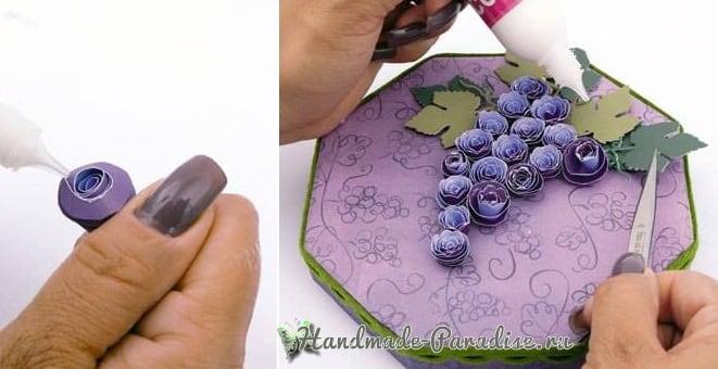 Винная коробка с виноградом своими руками (3)