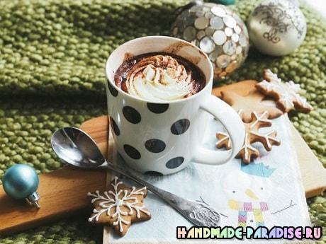 Вкусный десерт - молоко с шоколадной пастой Nutella (4)