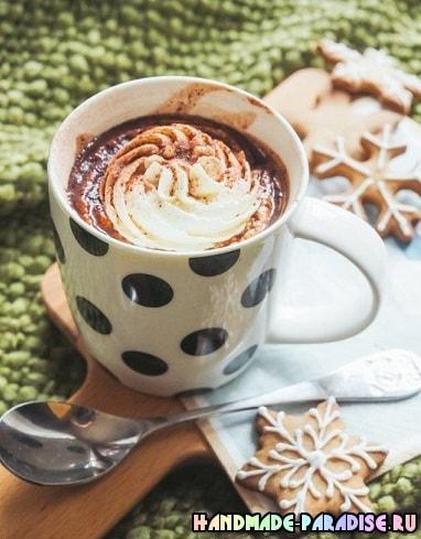 Вкусный десерт - молоко с шоколадной пастой Nutella (5)