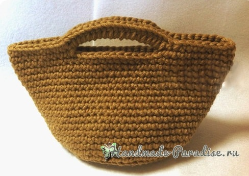 Вязание крючком корзинки для рукоделия