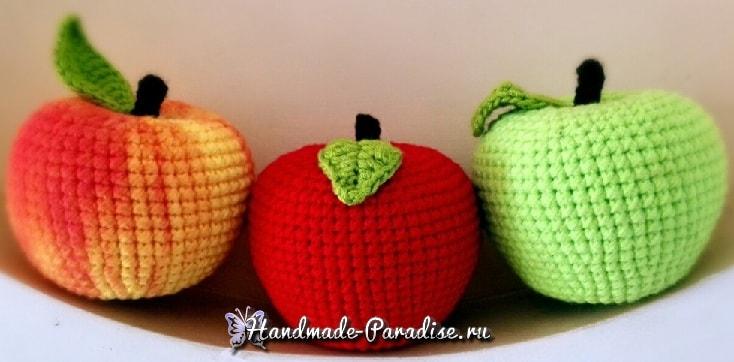 Вязаное крючком яблоко