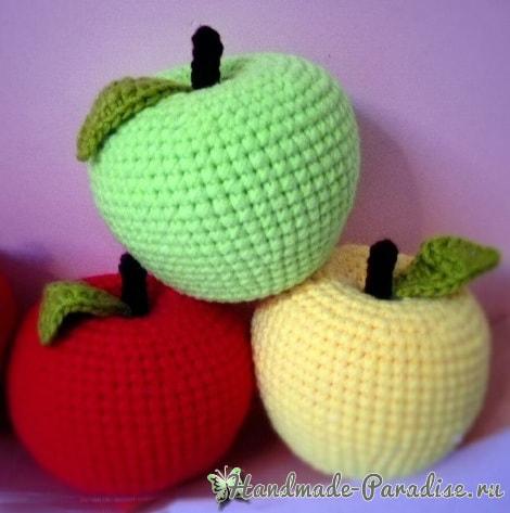 Вяжем яблочко крючком. Схема (8)