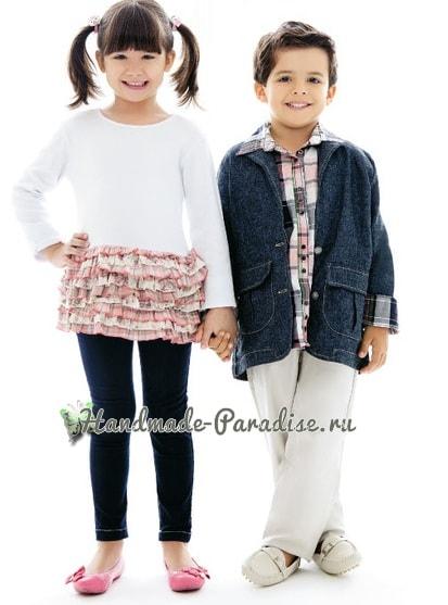Выкройка джинсового блейзера для мальчика (3)