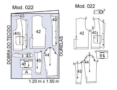 Выкройка джинсового блейзера для мальчика (4)