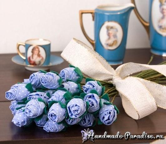 Букет роз из ткани. Мастер-класс (2)