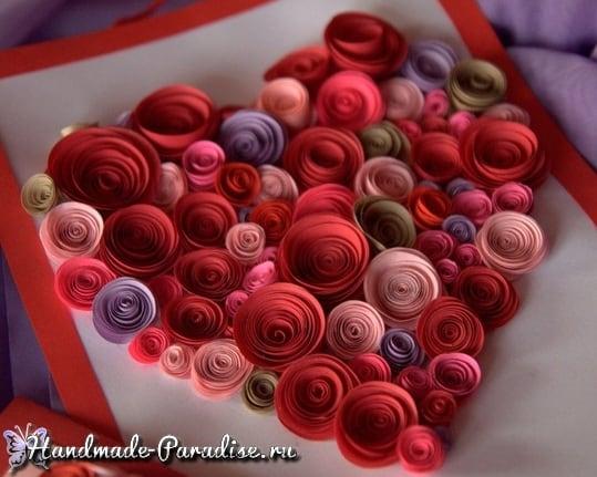 Бумажное сердце из спиральных розочек (5)