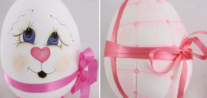 Декоративные пасхальные яйца из пенопласта