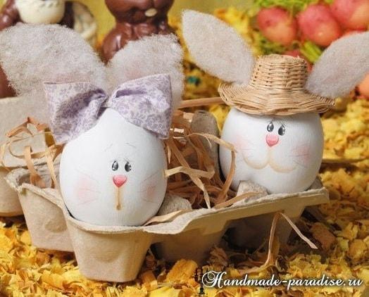 Декоративные пасхальные яйца из пенопласта (14)
