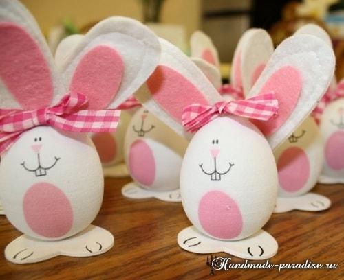 Декоративные пасхальные яйца из пенопласта (15)