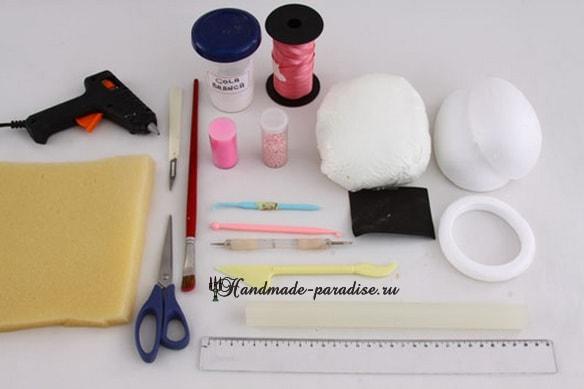 Декоративные пасхальные яйца из пенопласта (3)