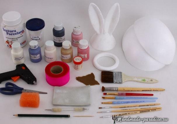 Декоративные пасхальные яйца из пенопласта (8)