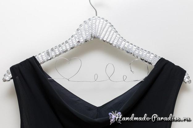 Декорирование вешалки для вечернего платья (7)