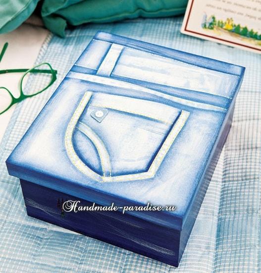 Декупаж и роспись коробок для подарка (2)