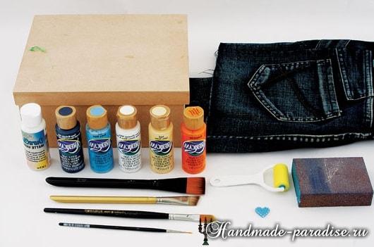 Декупаж и роспись коробок для подарка (3)