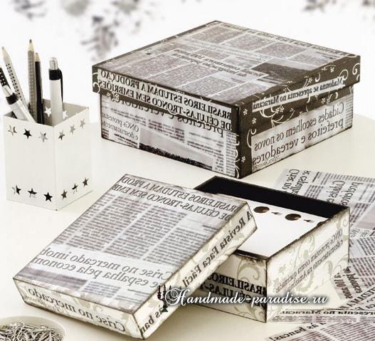 Декупаж и роспись коробок для подарка (9)